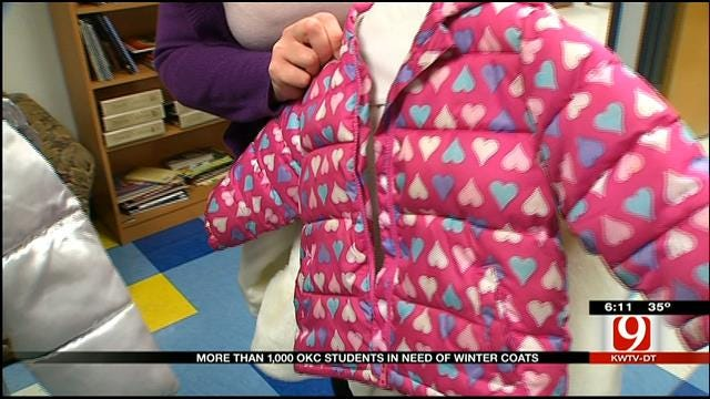 OKC Public Schools Partners With Salvation Army, Legacy Cleaners To Give Coats To Kids