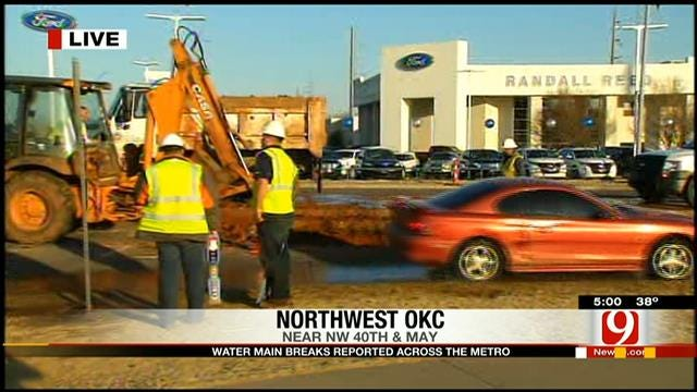 OKC Flooded With Water Pipe Problems From Winter Weather
