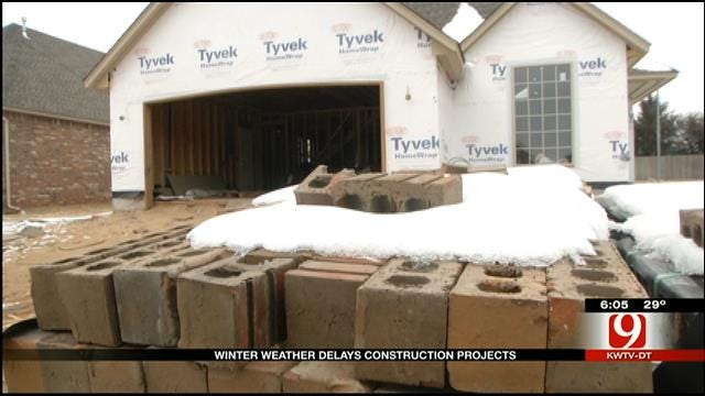 Winter Weather Causes Construction Delays