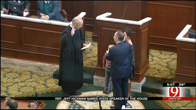 Oklahoma House Elects Hickman As Speaker Of The House