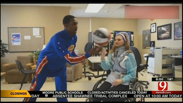 Harlem Globetrotters Star Surprises Teen Injured In OK Skydiving Accident