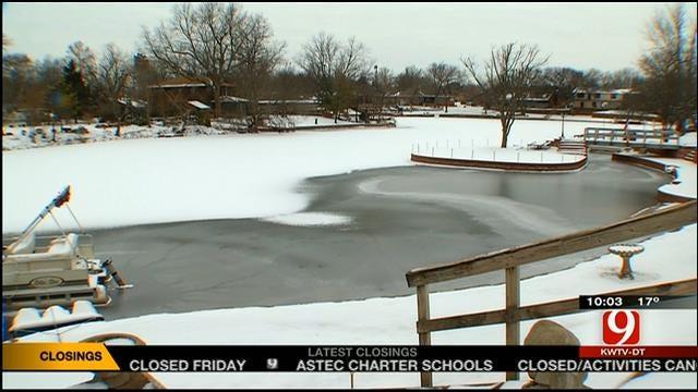 OHP Warn Parents To Keep Children Off Frozen Bodies Of Water
