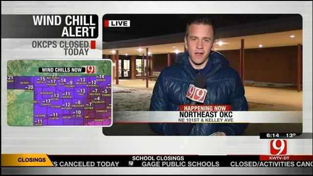 OKC Public Schools Closed Again Due To Cold Temperatures
