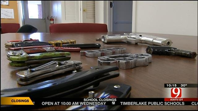 Weapons Confiscated Inside Oklahoma Schools