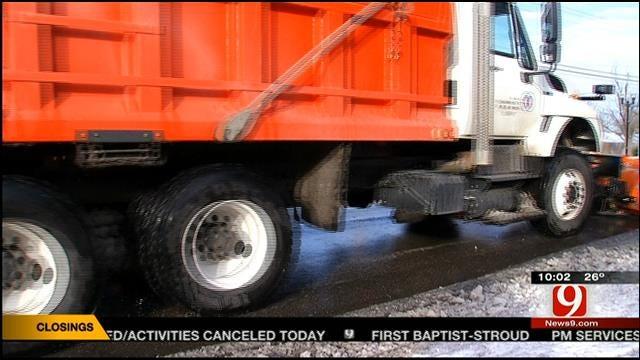 City Salt, Sand Crews Ready To Work As Roads, Bridges Refreeze