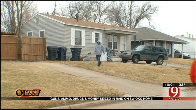 Guns, Money, Drugs, Seized In Raid At SW OKC Home