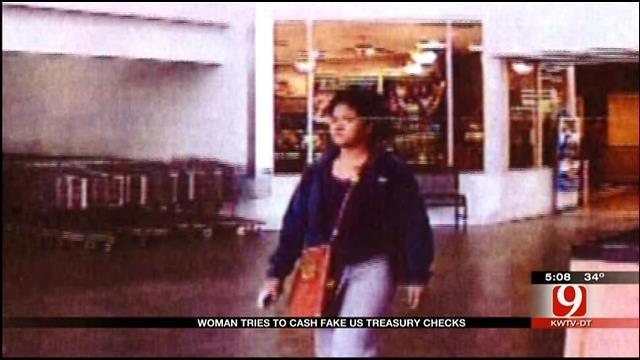 Woman Tries Cashing Forged US Treasury Checks In OKC Metro