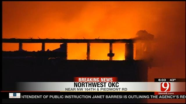 NW OKC Home Destroyed In Early Morning Fire