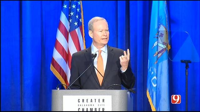 Mayor Mick Cornett Presents Year In Review to OKC Chamber