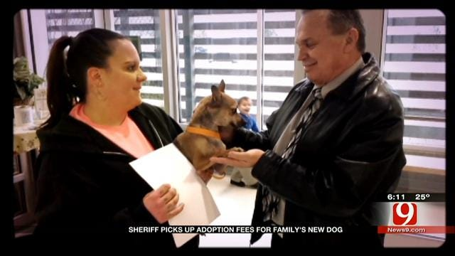 OK County Sheriff Delivers Puppy To Family Who Lost Pet In Pursuit