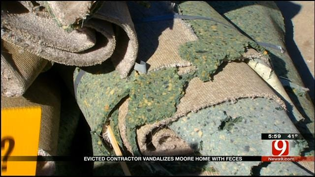 Evicted Contractor Vandalizes Moore Home With Feces