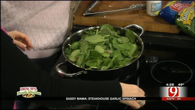 Steakhouse Garlic Spinach