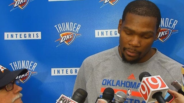 Thunder Players Preview Tuesday's Game With Portland