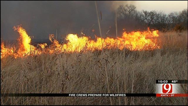 Oklahoma Fire Crews Prepare For Possible Wildfire Outbreak