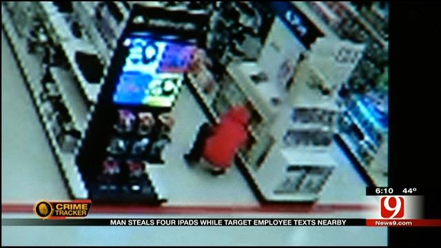 Man Steals iPads As OKC Target Employee Texts Nearby