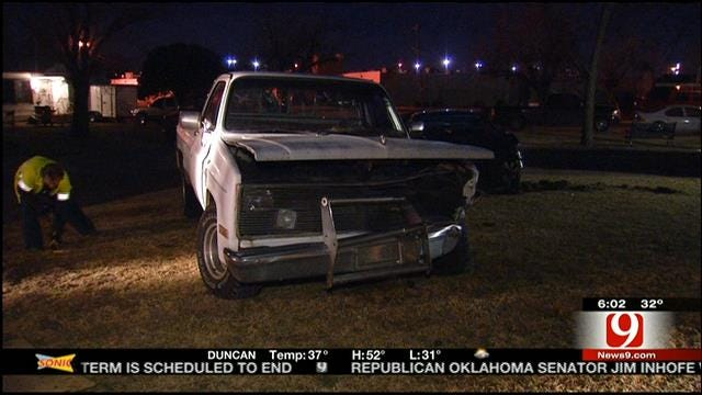 High Speed Police Chase Ends In Crash In SW OKC