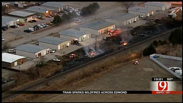 Burlington Northern Train Sparks Wildfires Across Edmond