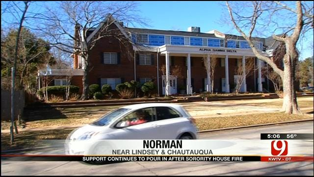 Support Pours In After OU Sorority House Fire