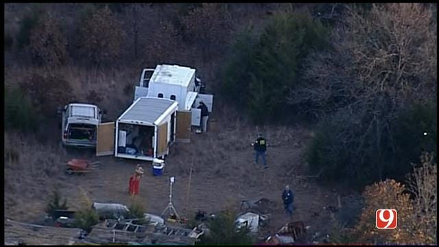 WEB EXTRA: Bob Mills SkyNews9 HD Flies Over Scene Of A Body Found Near Meeker