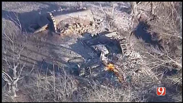 WEB EXTRA: Multiple Structures Turned To Ash Piles From Grass Fires