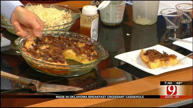 Made In Oklahoma Recipe: Breakfast Croissant Casserole