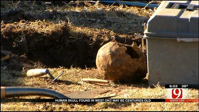 Human Skull Found In OKC Maybe 100 Years Old