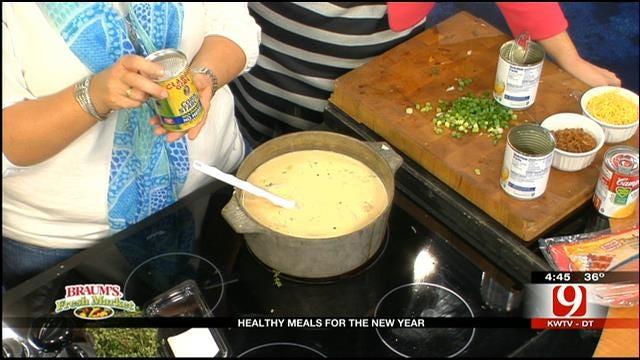 Skinny Baked Potato Soup