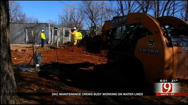 OKC Maintenance Crews Busy Working On Water Lines