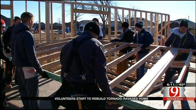 Volunteers Start To Rebuild Tornado-Ravaged Homes In Moore