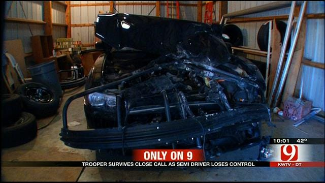 Trooper Speaks Out After Semi Hits Cruiser Head-On