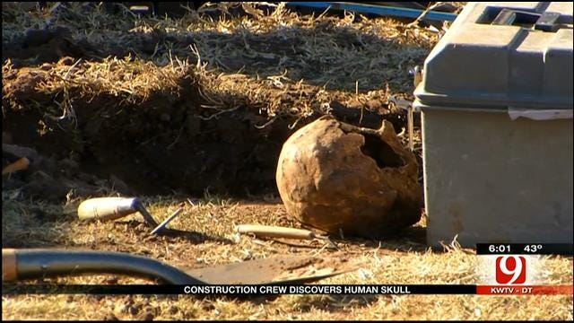 Possible Human Skull Found In West OKC