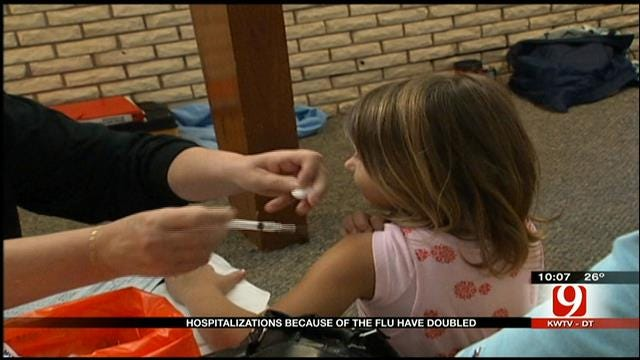 Flu-Related Hospitalizations Double In Oklahoma