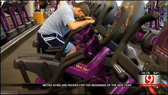 Metro Gyms Packed With Newly Resolute Oklahomans