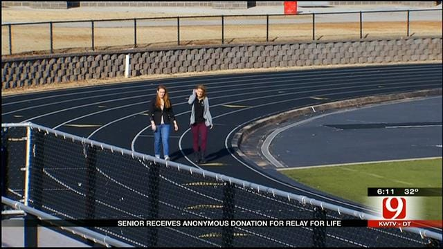 Mustang HS Senior Receives Anonymous Donation For Relay For Life