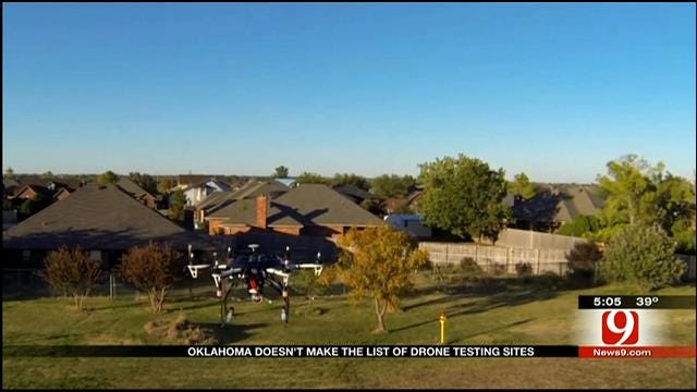 Oklahoma Not On The List Of Drone Testing Sites