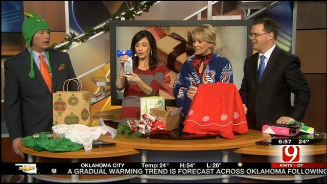 News 9 This Morning Anchors Exchange Christmas Gifts