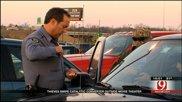Christmas Day Crime: Car Part Theft Plagues NE OKC Theatre