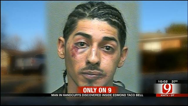 Suspect In Handcuffs Found At Edmond Taco Bell