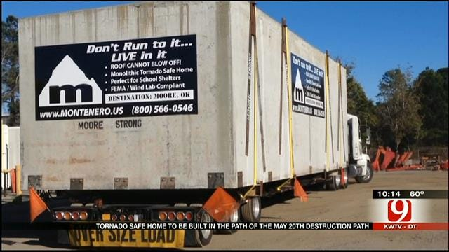 Concrete 'Safe Suite' Headed To Home In Moore