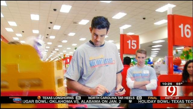 Thunder Plays Santa Claus For Moore Families
