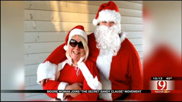Moore Woman Joins 'The Secret Sandy Claus' Movement