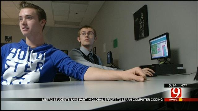 Edmond High School Students Take Part In 'Hour Of Code'