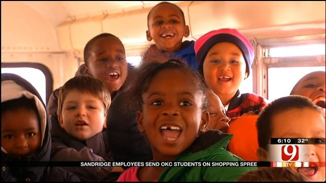 Sandridge Treats OKC Elementary Students To Christmas Shopping Spree