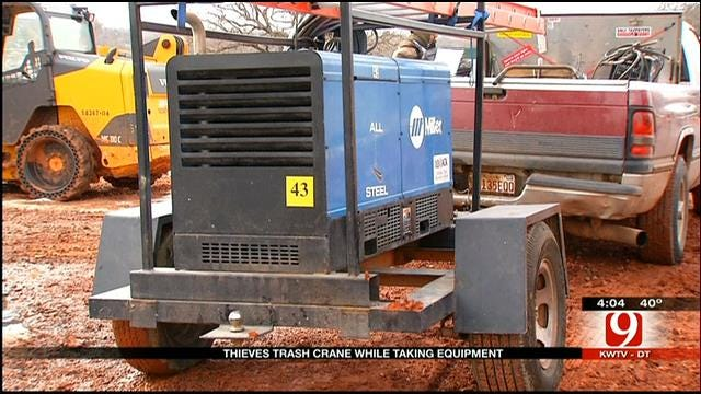 Crane Used To Steal Expensive Equipment From OKC Construction Site