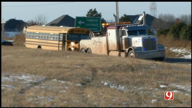 Truck, Yukon Public Schools Bus Collide In NW OKC