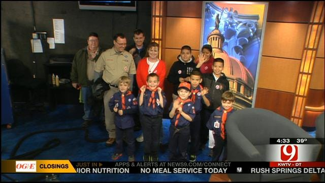 OKC Cub Scouts From Pack 129 Visit News 9