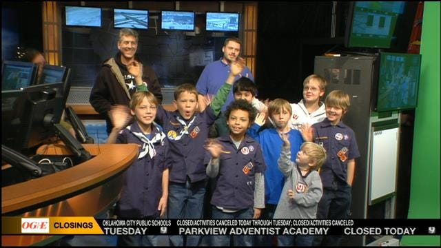 Cub Scouts From Edmond Visit News 9