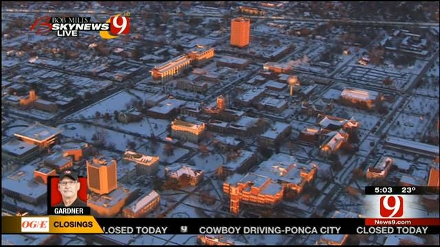 News 9 Checks Out Icy Roads By Land, Air