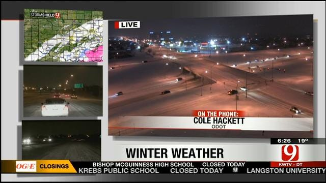 Update On Condition Of Oklahoma Roads