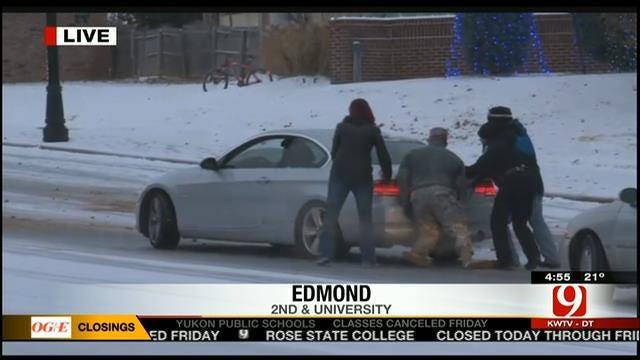 Good Samaritans Help Cars Stuck Near UCO